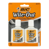 Bic Wite-Out Quick Dry Correction Fluid, 20ml Bottle, White, Pack of 48
