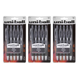 Uni-Ball Signo 207 Gel Retractable Roller Ball Pen, 1.0mm, Bold Point, Black Ink, 15-Count