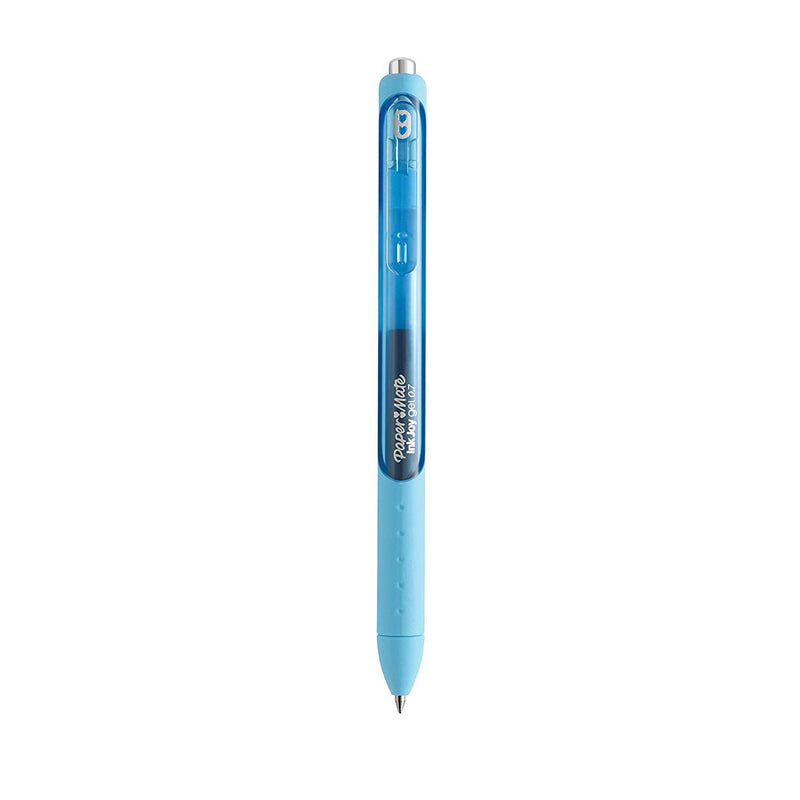 Paper Mate InkJoy Retractable Gel Pen, 0.7mm, Medium Point, Bright Blue Ink, 10-Count