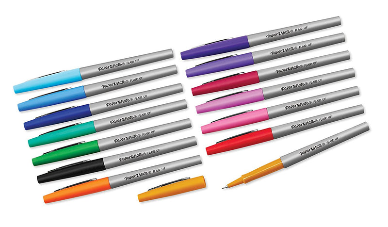 Paper Mate Flair Felt Tip Pens, Ultra Fine Point, Limited Edition Candy Pop Pack, 12 Count