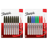 Sharpie Permanent Markers, Fine Point, Assorted Colors, 16-Count