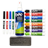 Expo Low-Odor Dry Erase Markers, Chisel and Fine Tip, Assorted Colors, 15-Piece Set