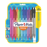 Paper Mate InkJoy 100RT Retractable Ball Point Pens, 1.0mm, Medium Point, Assorted Colors, 16-Count