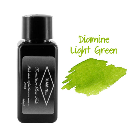 Diamine Fountain Pen Bottled Ink, 30ml - Spring Green