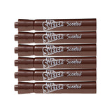 Mr. Sketch Scented Watercolor Movie Night Marker, Chisel Tip, Chocolate Mint, Dark Brown, 6-Count