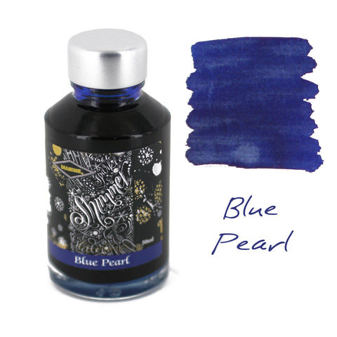 Diamine Fountain Pen Bottled Ink, 50ml - Shimmering Blue Pearl