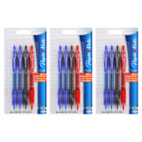 Paper Mate Profile Retractable Ball Point Pens, 1.4mm, Bold Point, Assorted Colors, 12-Count