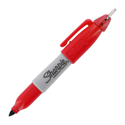 Sharpie Mini Permanent Marker, Fine Point, Red Ink, 1-Count
