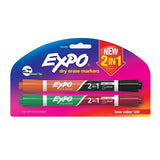 Expo Dry Erase 2-in-1 Markers, Chisel Tip, Assorted Colors, 2-Count