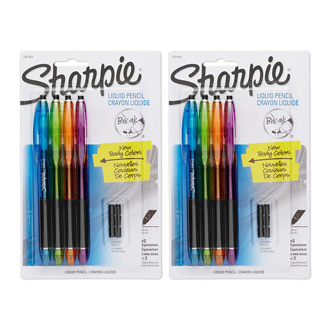 Sharpie Liquid Mechanical Pencils with 12 Eraser Refills, 0.5mm, Fashion Colors, Pack of 8
