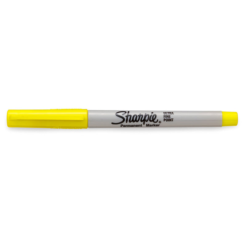 Sharpie Permanent Marker, Ultra Fine Point, Supersonic Yellow, 12-Count - Pens N More