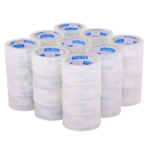 SealPlus Premium Carton Shipping Packing Tape, Clear, 2mil, 2 Inches x 110 Yards, 36 Rolls