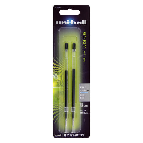 Uni-Ball Jetstream RT Pen Refill, 0.7mm, Fine Point, Blue Ink, 2-Count