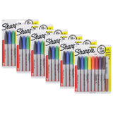 Sharpie Permanent Markers, Fine Point, Assorted Colors, Pack of 48 + 6 Metallic