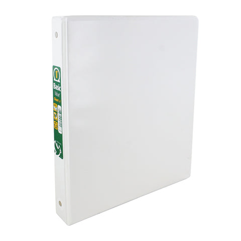 Cardinal Basic Value ClearVue 1 Inch Round Ring Binder, 225 Sheet Capacity, White