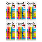 Sharpie Pocket Style Highlighters, Chisel Tip, Assorted Fluorescent, 24-Count