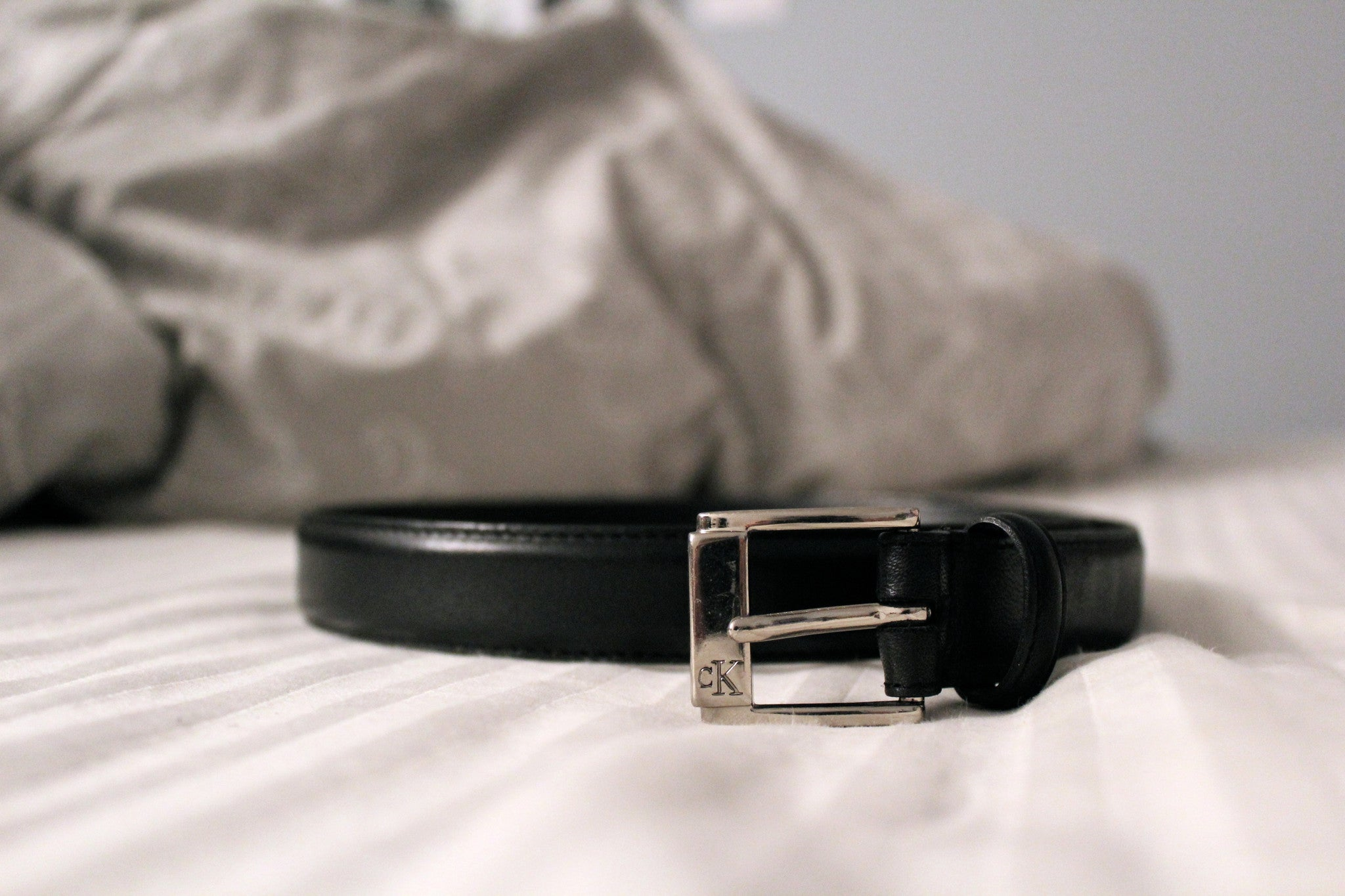 Calvin Klein Gloss Leather Belt