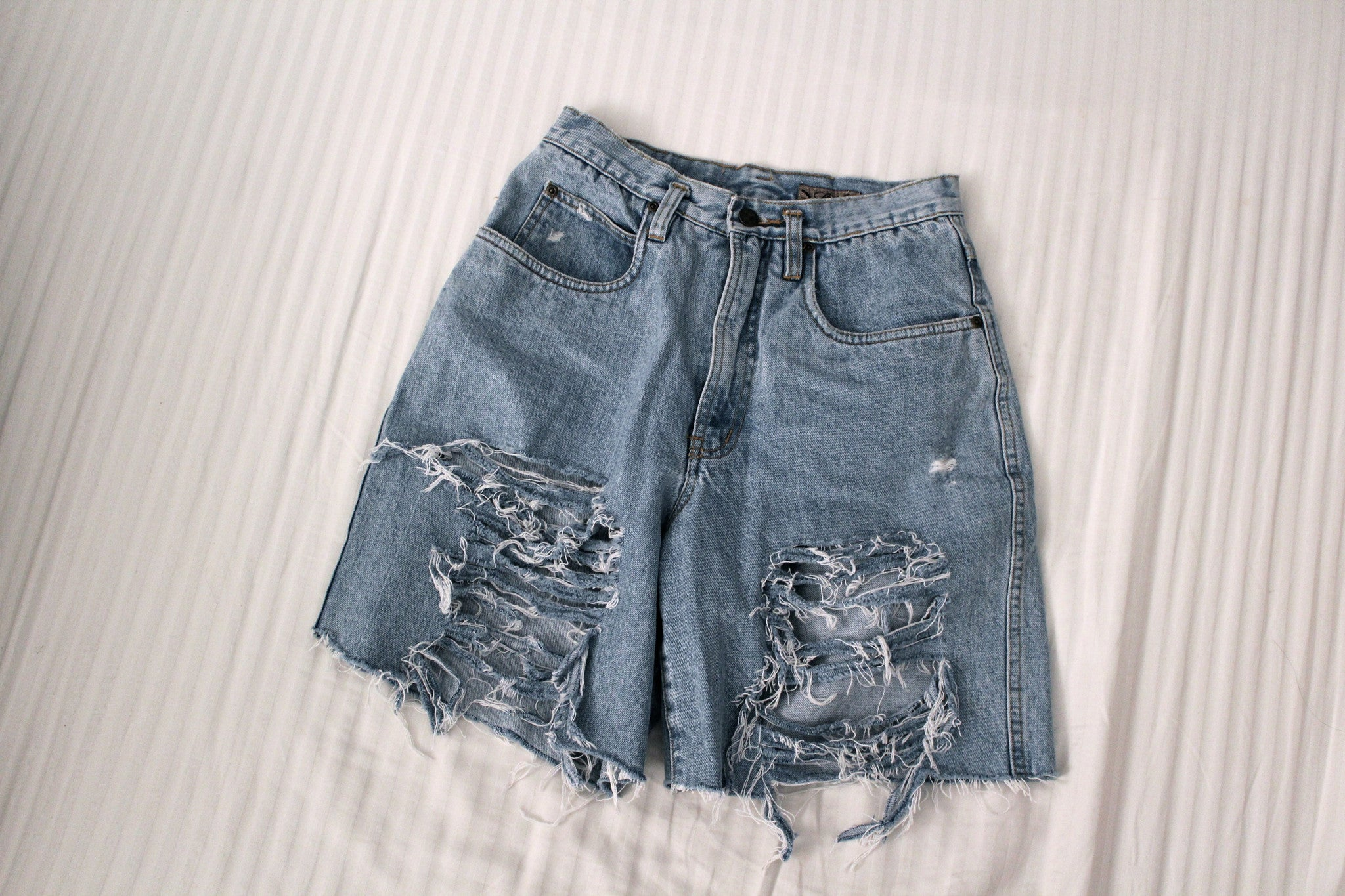 Lola Ultra-Distressed Denim Short