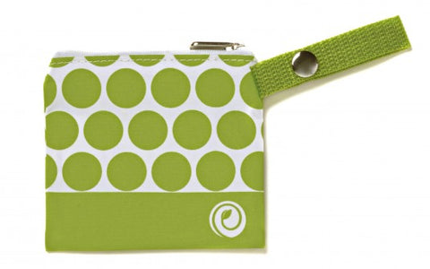 green dot mini bag