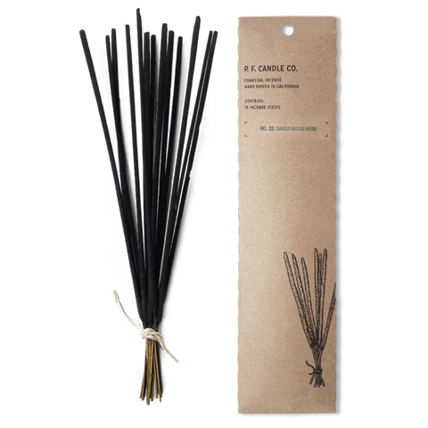 PF CANDLE CO - INCENSE STICKS, SANDALWOOD ROSE