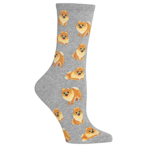 HOT SOX - WOMEN'S POMERANIAN SOCKS _GRAY