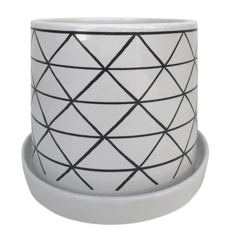 "TRIANGLE PLANTER - 6"" - WHITE"