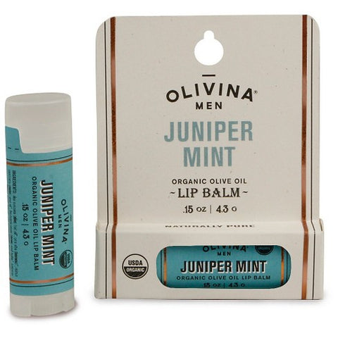 OLIVINA MEN - ORGANIC LIP BALM, JUNIPER MINT
