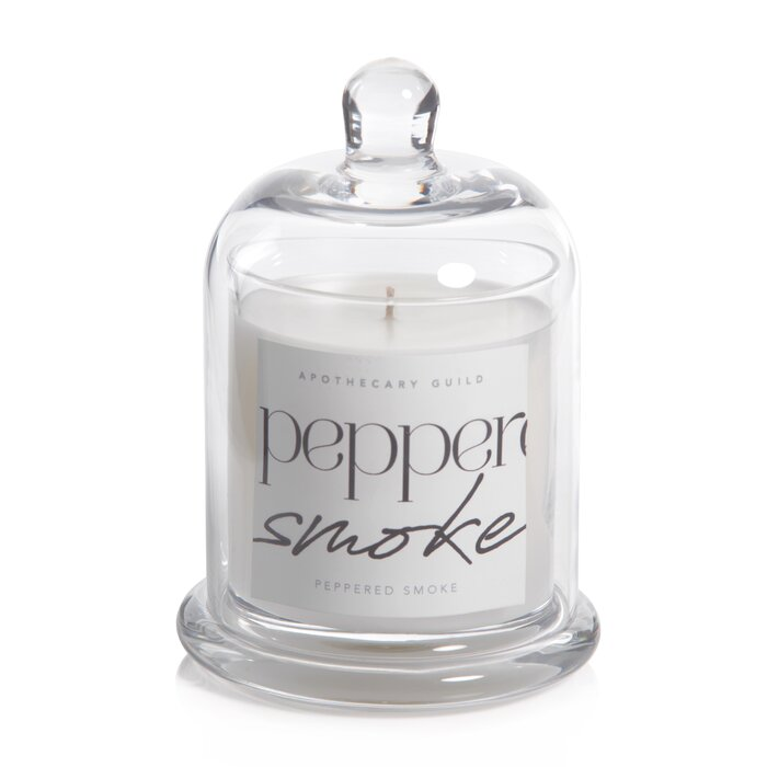 SCENTED CANDLE DOME JAR - PEPPERED SMOKE