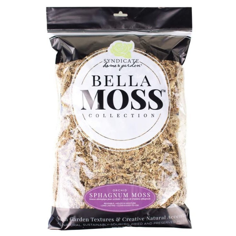 SYNDICATE BELLA MOSS - ORCHID SPHAGNUM MOSS 3.2L