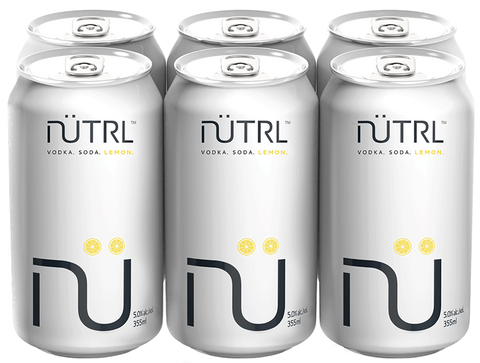 Nutrl Lemon Vodka Soda (6 PK)