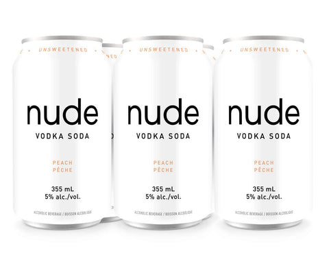 Nude Vodka Soda Peach (6 PK)