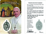 Rosary and Pope Francis Prayer Card