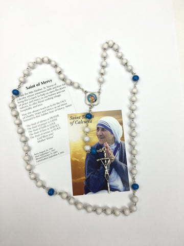 Mother Teresa Rosary and prayer card