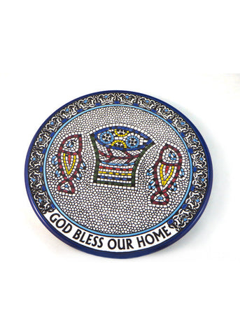 God Bless Our Home Mosaic Wall Plate