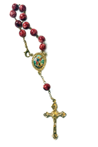 Auto Rosary Beads with St.Michael Medal
