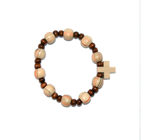 Wooden Beads Striped