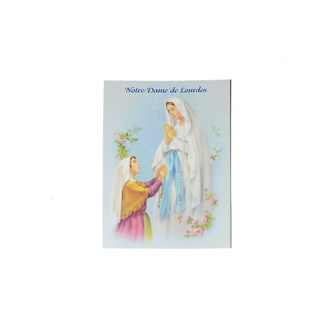 Rosary with Lourdes Prayer Card