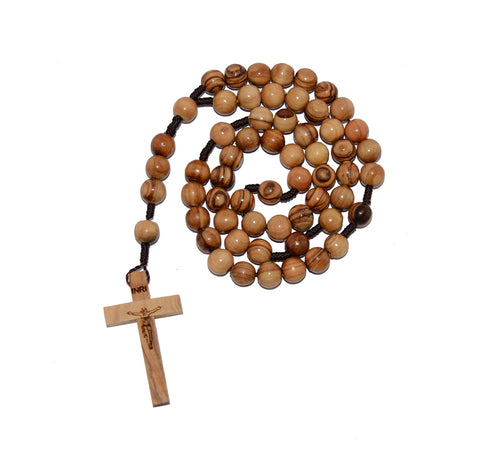 Wooden Olive Rosary with Large Beads