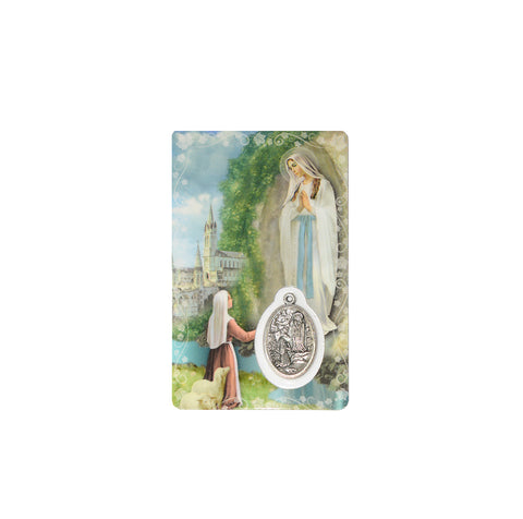 Prayer Card 'Our Lady of Lourdes'