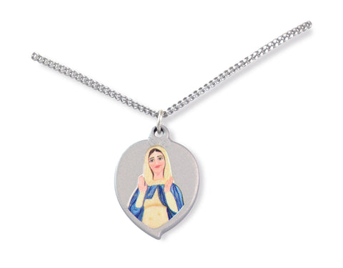 Silver Pendant: Mary