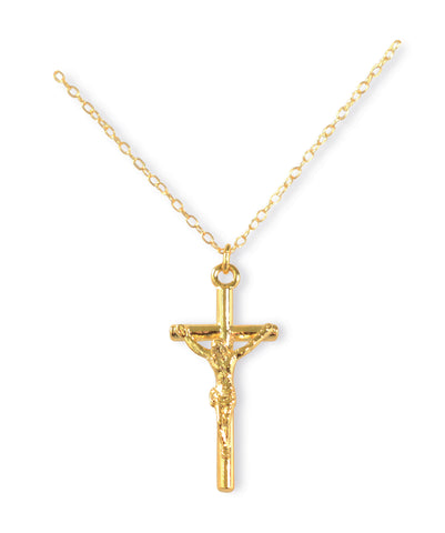 Golden Crucifix with Chain