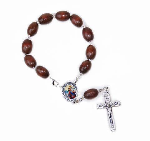 Car Mirror Decade Rosary with St Christophe