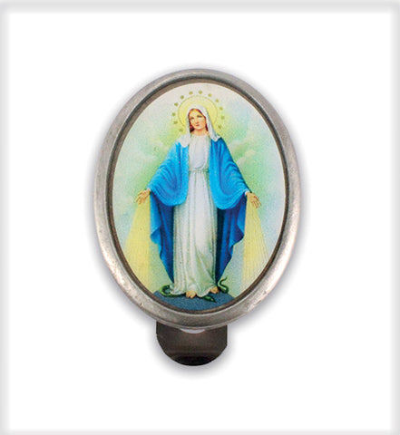 Our Lady of the miraculous visor clip // CT19