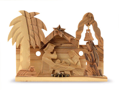 Wooden crèche with nativity relic // CT19