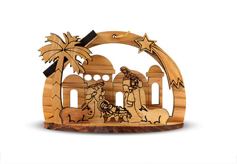 Nativity ornament from the Holy land // CT19