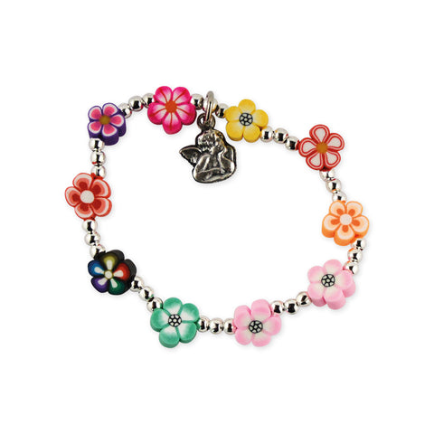 CHILD'S FLOWERED BRACELET