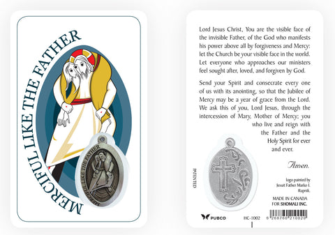 Year of Mercy Prayer Card and Medal (English)