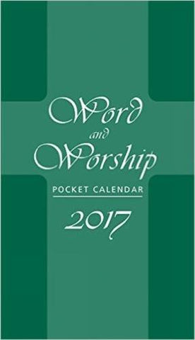 Word and Worship Pocket Calendar 2017