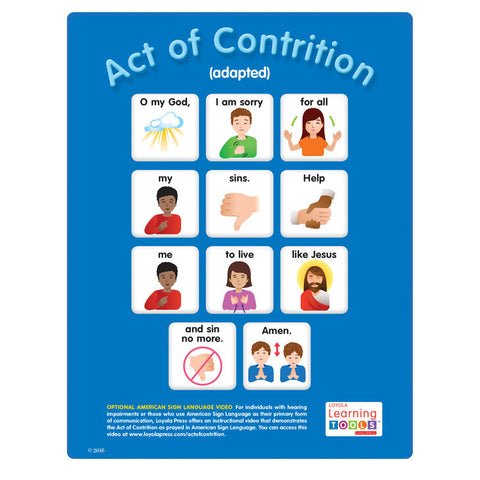 Act of Contrition Instructional Card (25 per pack)