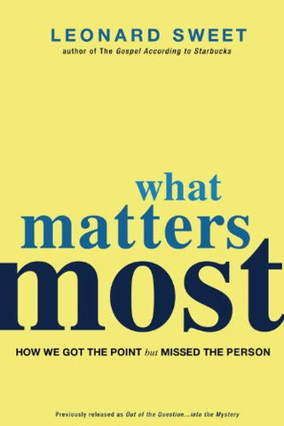 What Matters Most: How We Got the Point but Missed the Person